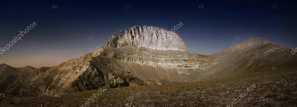 The mythical summit of  Mount Olympus