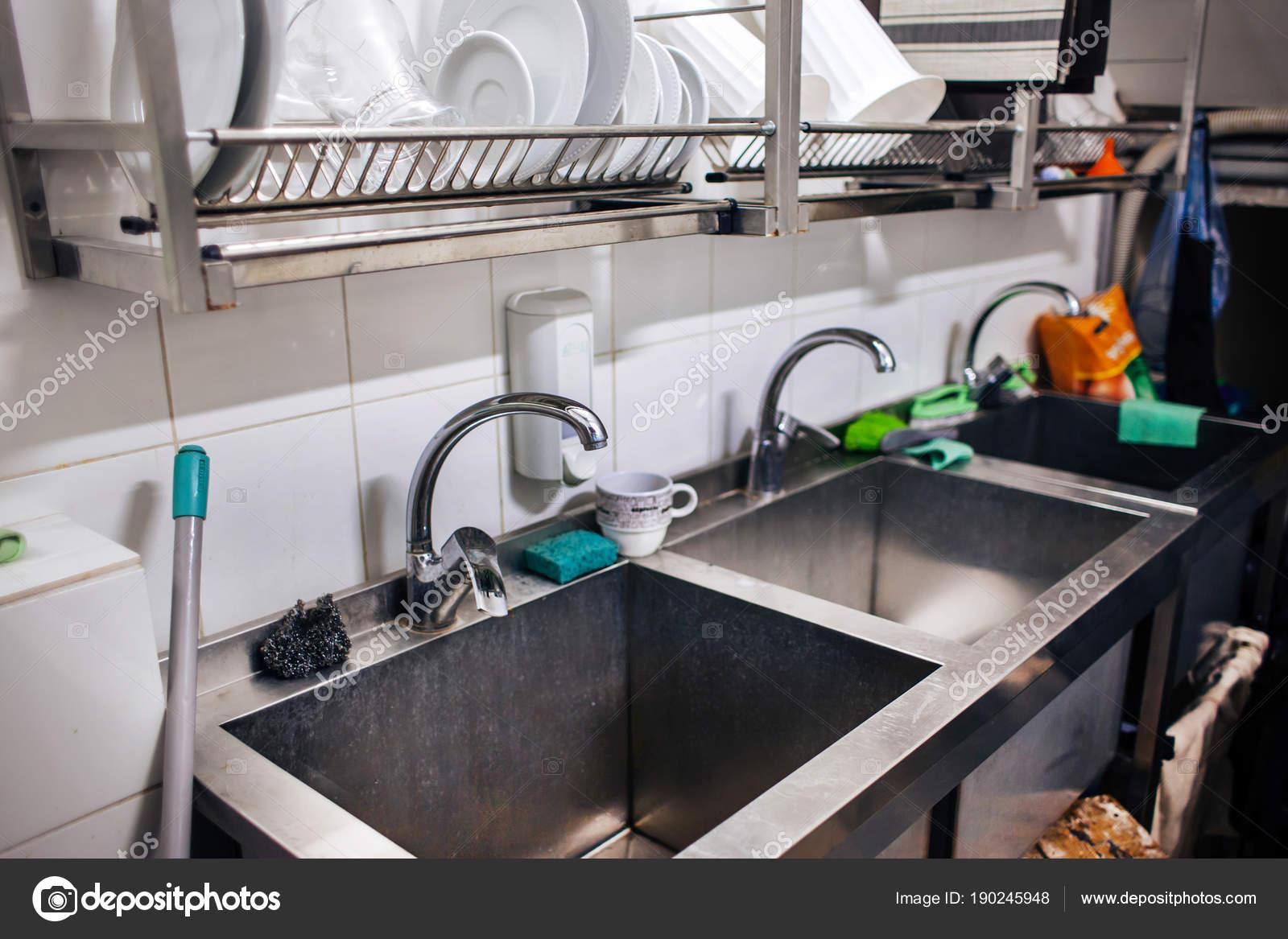 Kitchen Sinks Restaurant Stock Photo C Style Photo 190245948
