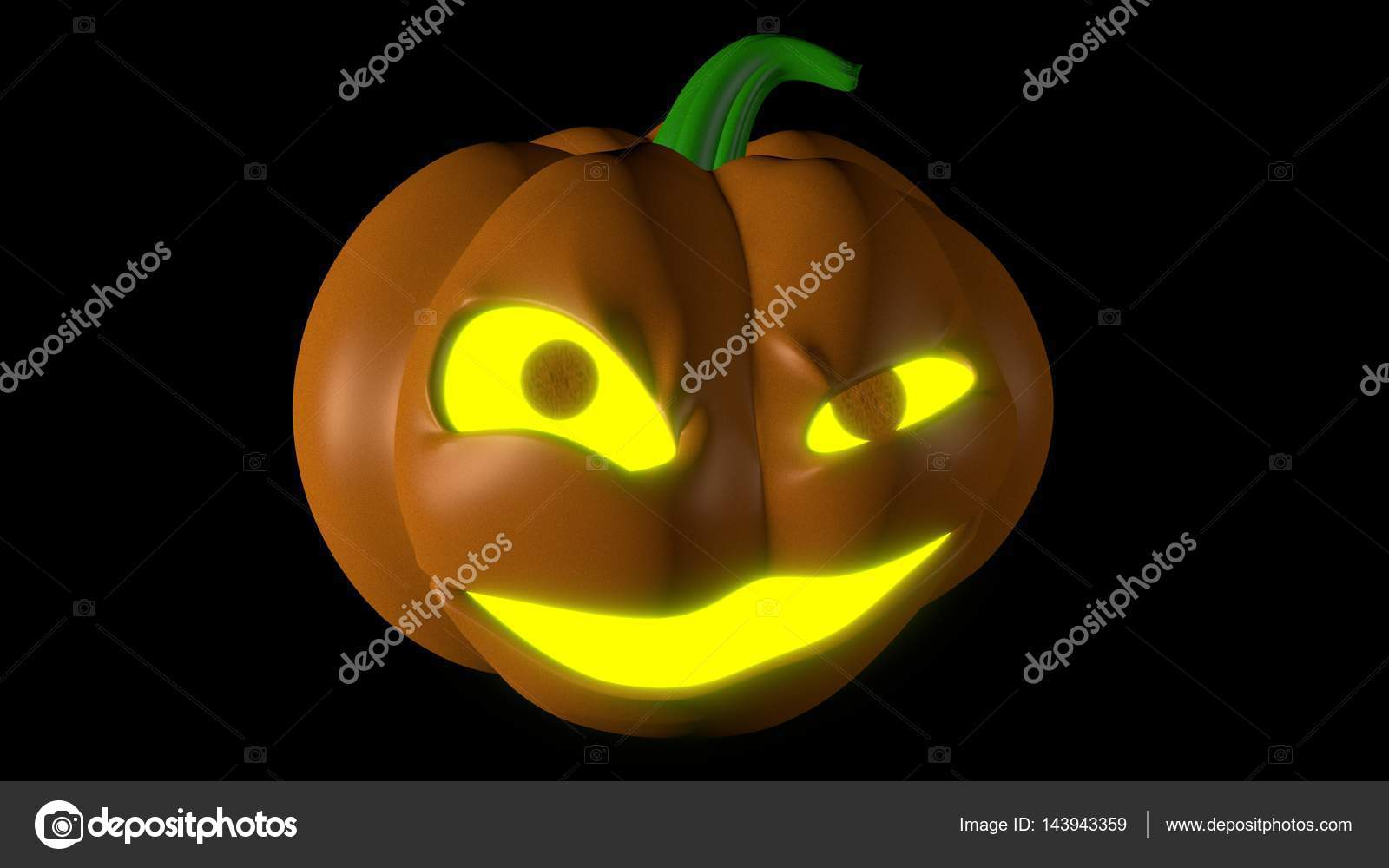 Halloween pumpkin Jack O Lantern with glowing eyes and mouth Halloween decoration