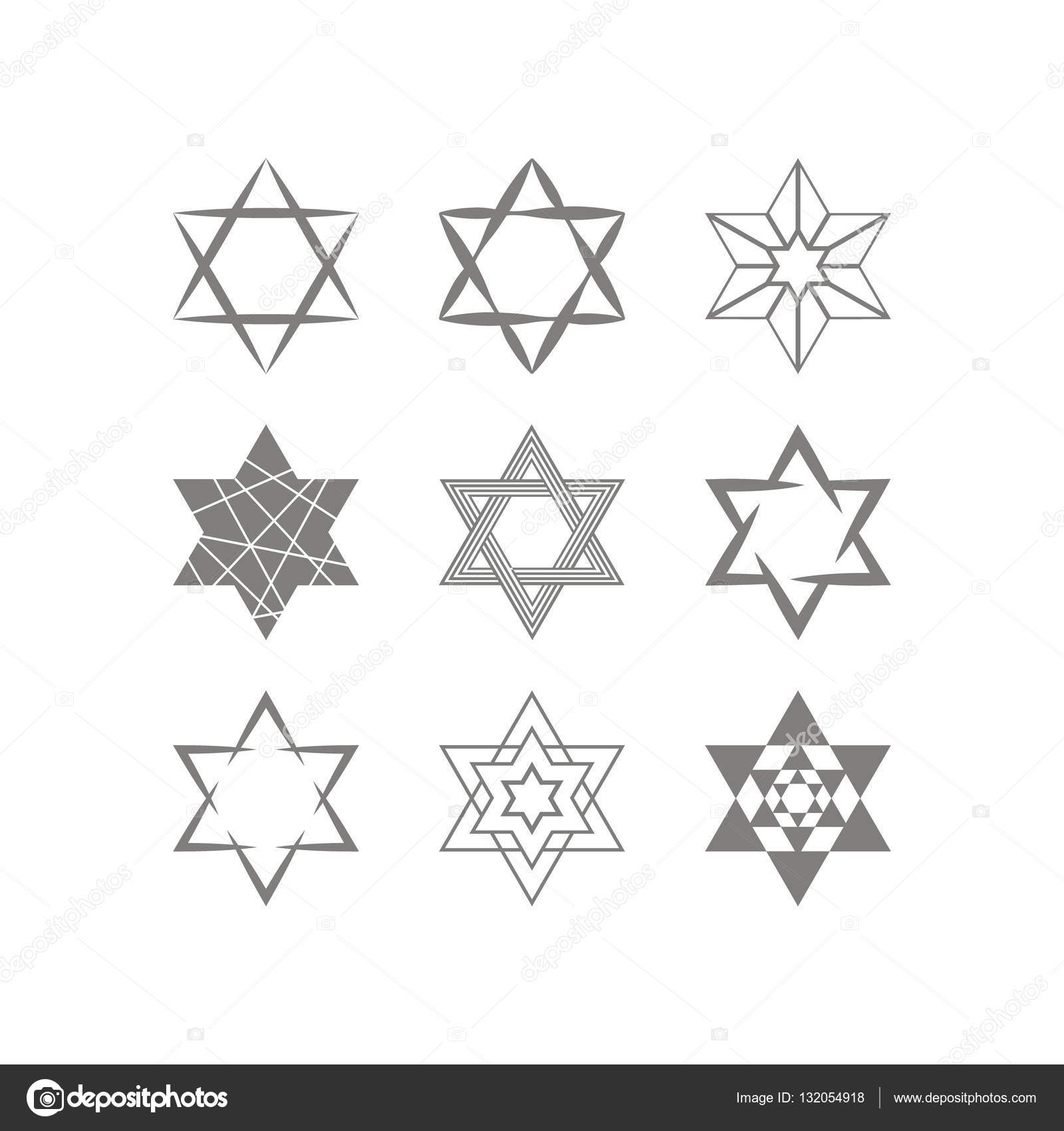 Set of monochrome icons with star of david traditional jewish set of monochrome icons with star of david traditional jewish symbol for your design vector by drutska biocorpaavc Choice Image