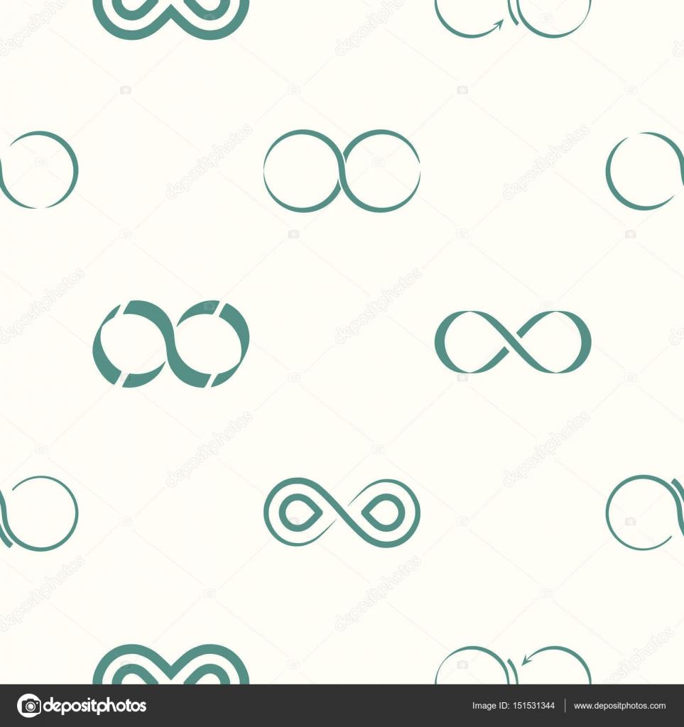 Seamless Pattern With Infinity Symbols Stock Vector Drutska