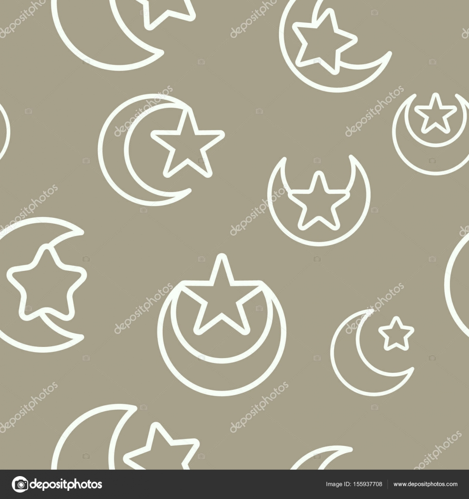 Seamless pattern with symbol of islam crescent moon with star seamless pattern with symbol of islam crescent moon with star stock vector biocorpaavc Gallery