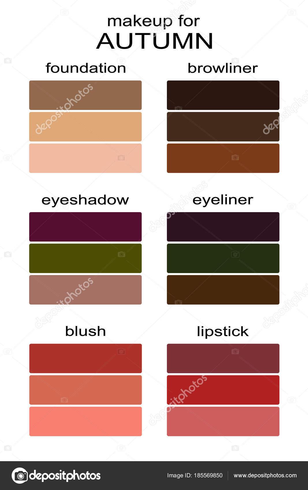 Besten Make Farben Fur Den Herbsttyp Aussehen Saisonale Farbpalette