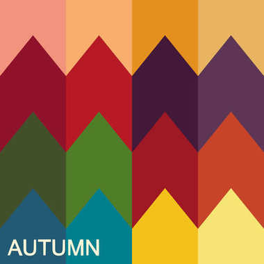 Stock vector color guide. Seasonal color analysis palette for autumn type. Type of female appearance