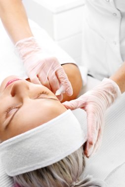 Needle mesotherapy. Lifting facial aesthetic medicine