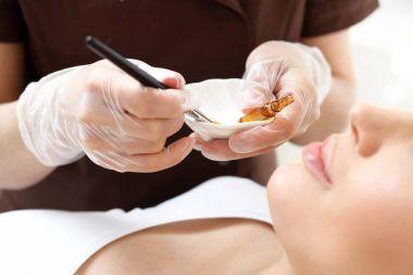 Chemical peeling, exfoliating treatment