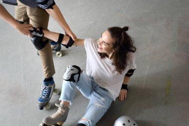 Great fun on roller skates.