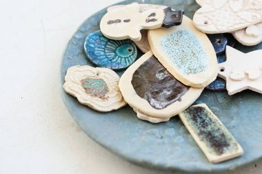 Clay dishes. Handicraft