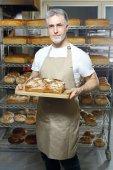 Fényképek Baker. Hagyományos pékség. Természetes házi kenyér pékáru