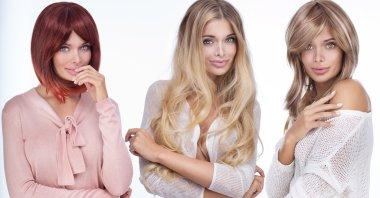 Portrait of three attractive women.