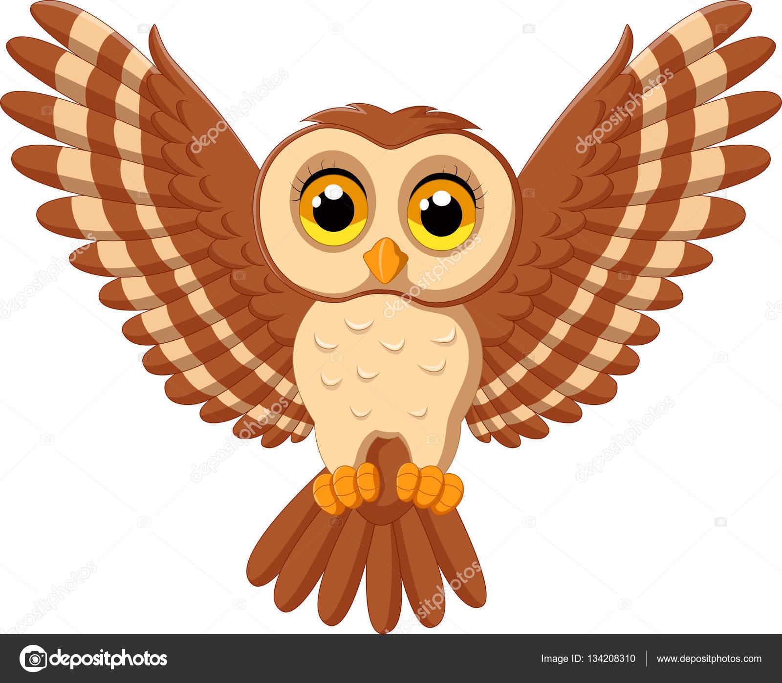 caricatura lindo buho volando vector de stock  u00a9 tigatelu 134208310 owls clip art free owl clip art black and white