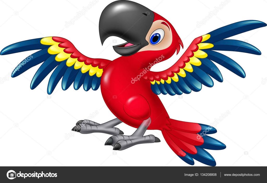 Muitas vezes Arara feliz de desenho animado voando — Vetores de Stock  XA66