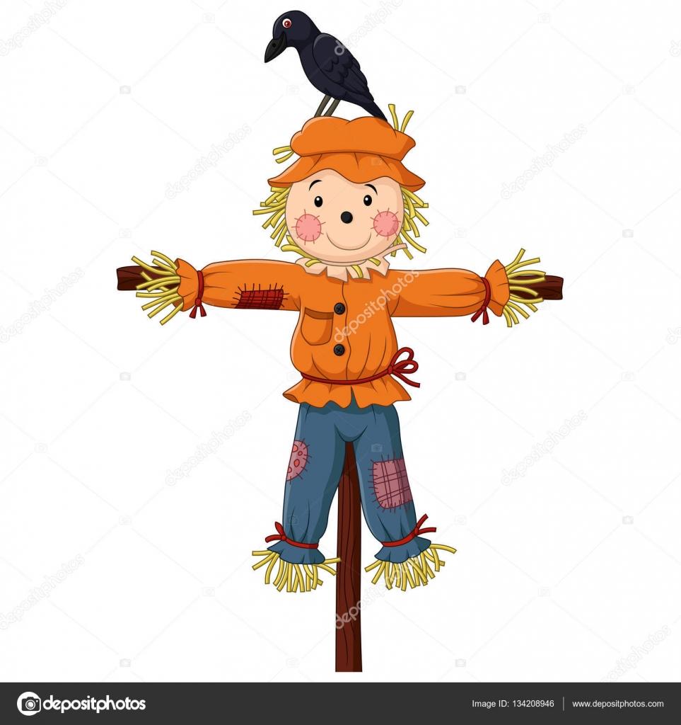 dibujos animados de espantap u00e1jaros aislado en blanco scarecrow clipart and images scarecrow clipart to print free