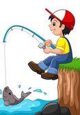 kisfiú, horgászat
