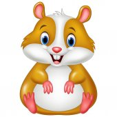 Photo Cute hamster cartoon