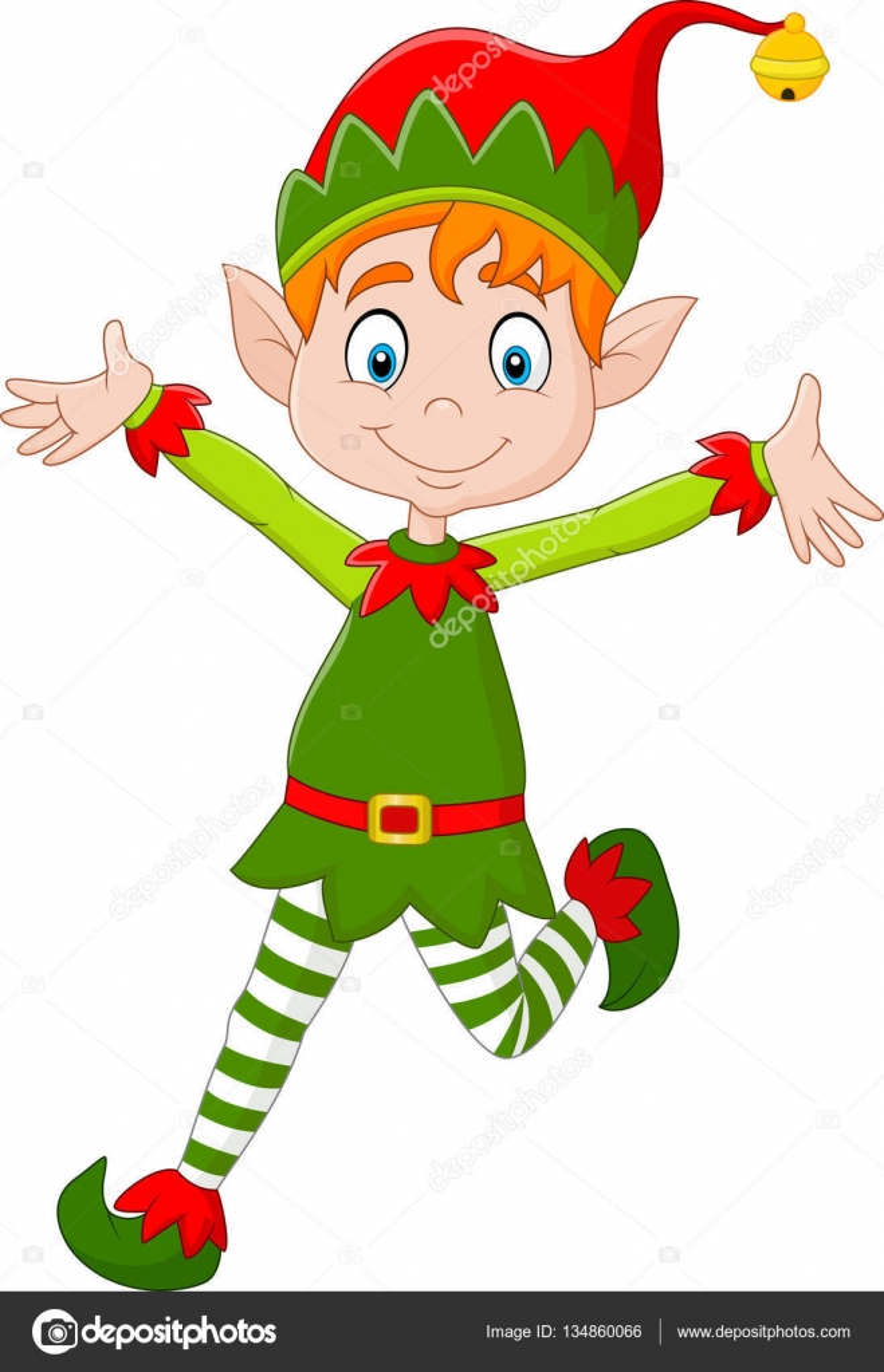 duende do desenho animado feliz natal vetores de stock tigatelu