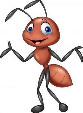 Vector illustration of Cartoon ant posing stock vector