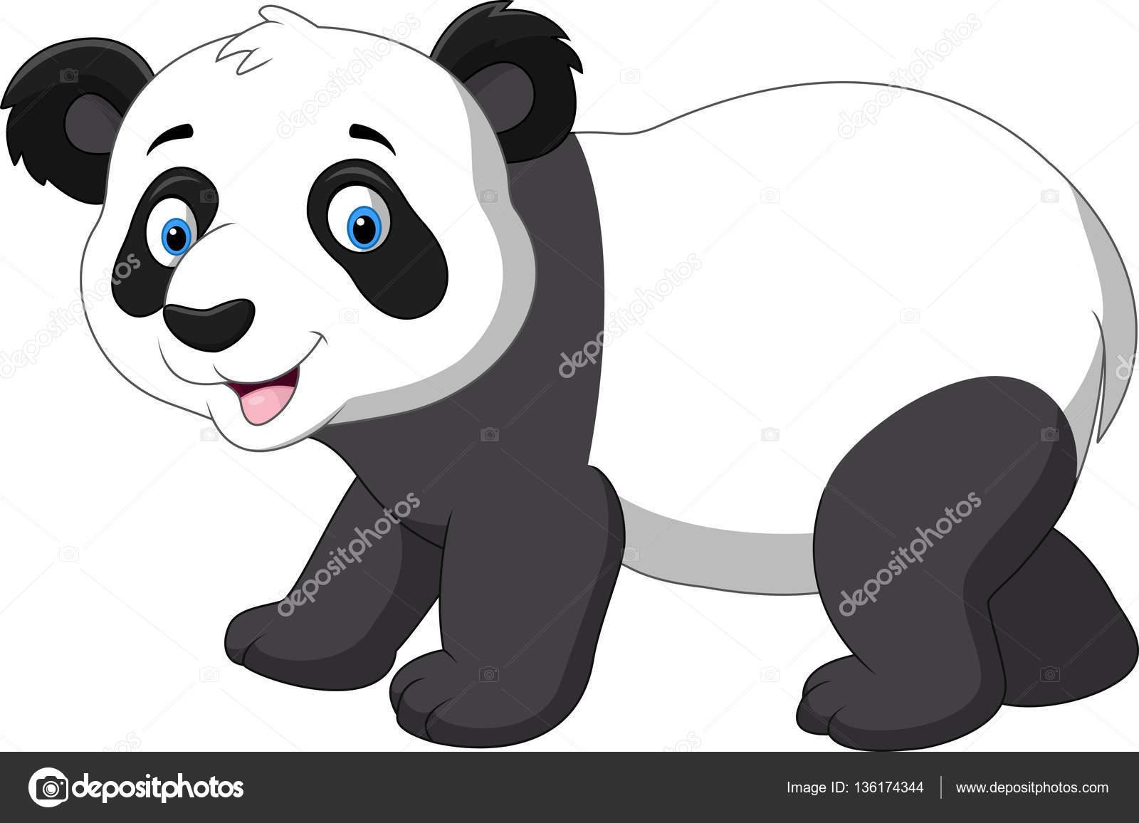 Cute Baby Panda Cartoon Stock Vector Tigatelu 136174344