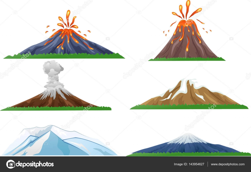 Dibujos Volcanes Dibujos Animados Juego De Erupcion De Volcan