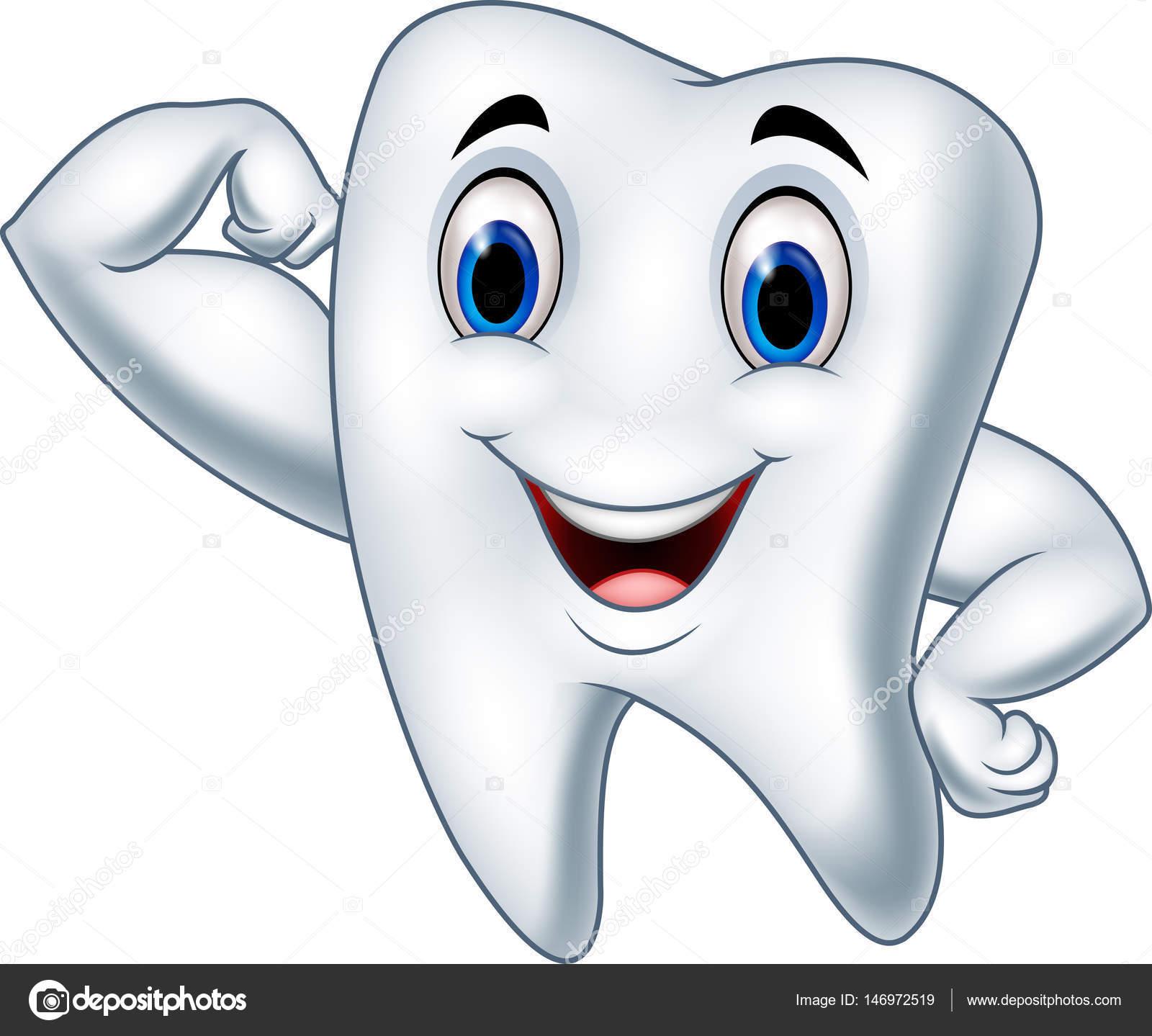 1 Toothed Cartoon Characters : Personaje de dibujos animados dientes fuertes — archivo