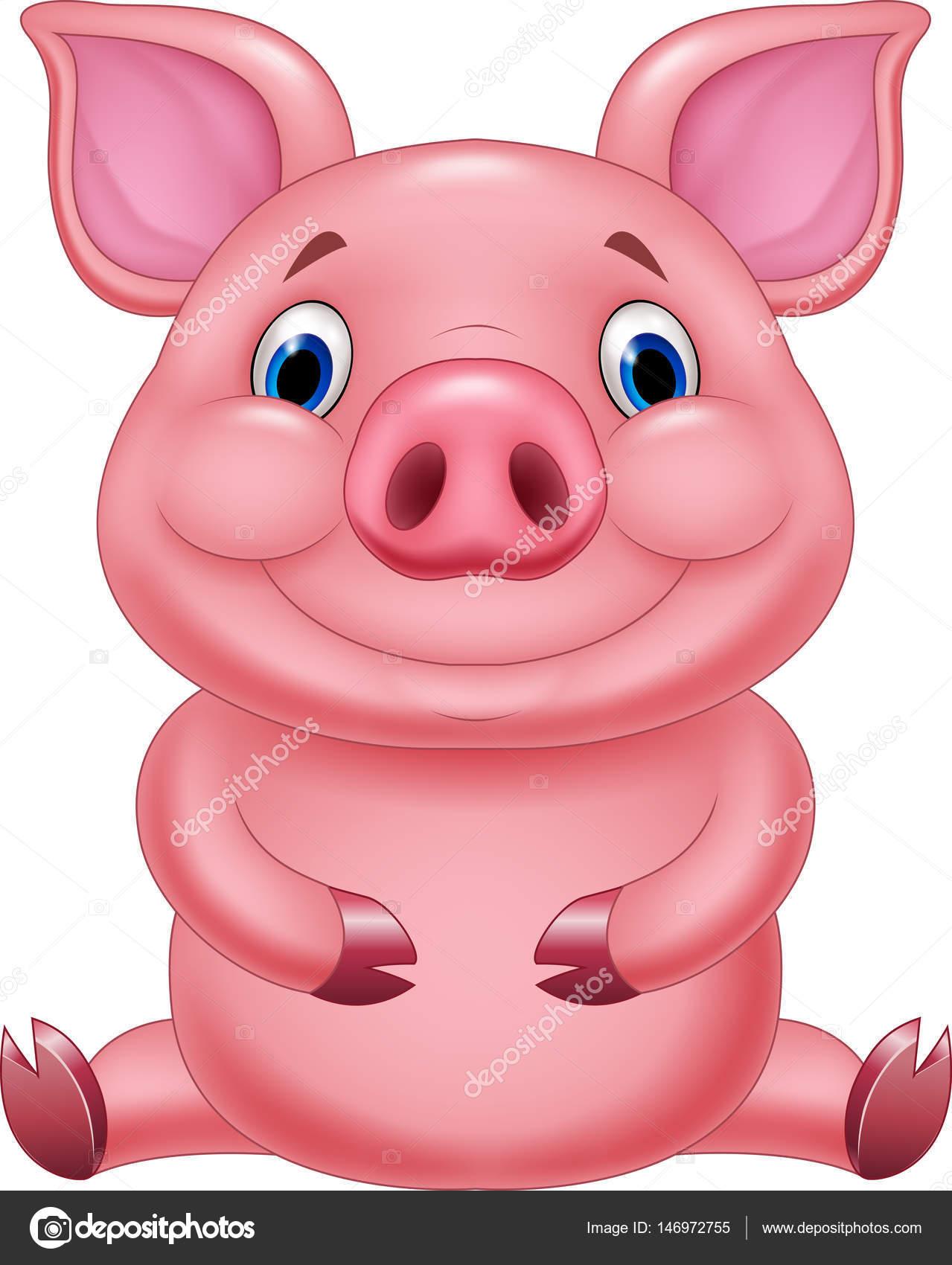 S ance de dessin anim mignon b b cochon image - Dessin cochon mignon ...