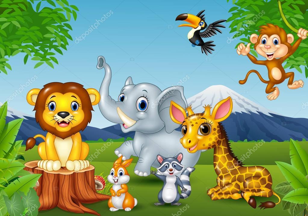 Caricatura De Animales De La Selva