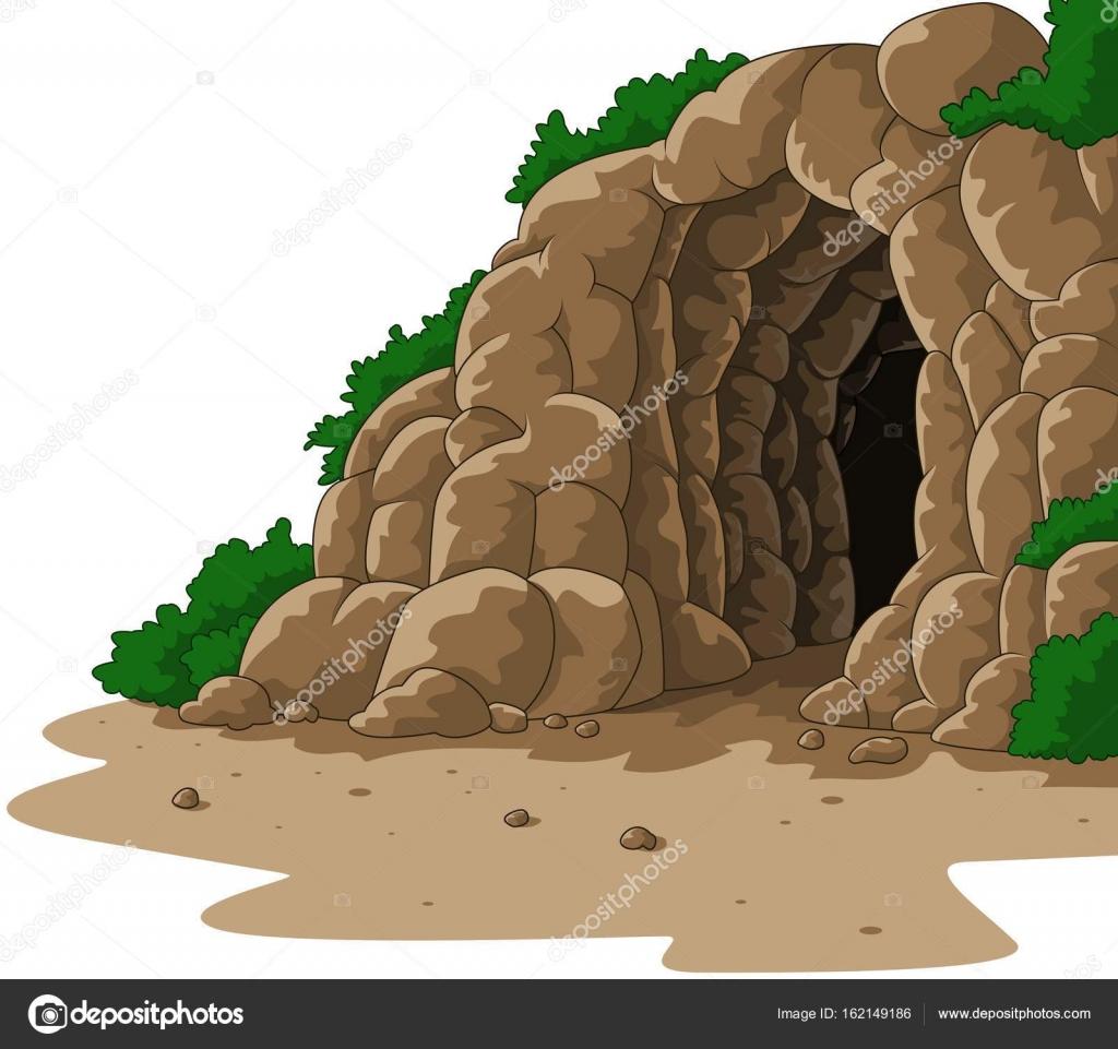 漫画洞窟に隔離されたホワイト バック グラウンド ストックベクター