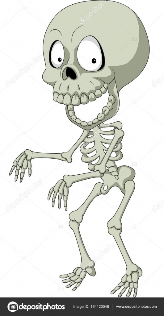 Esqueleto humano divertido dibujos animados — Vector de stock ...