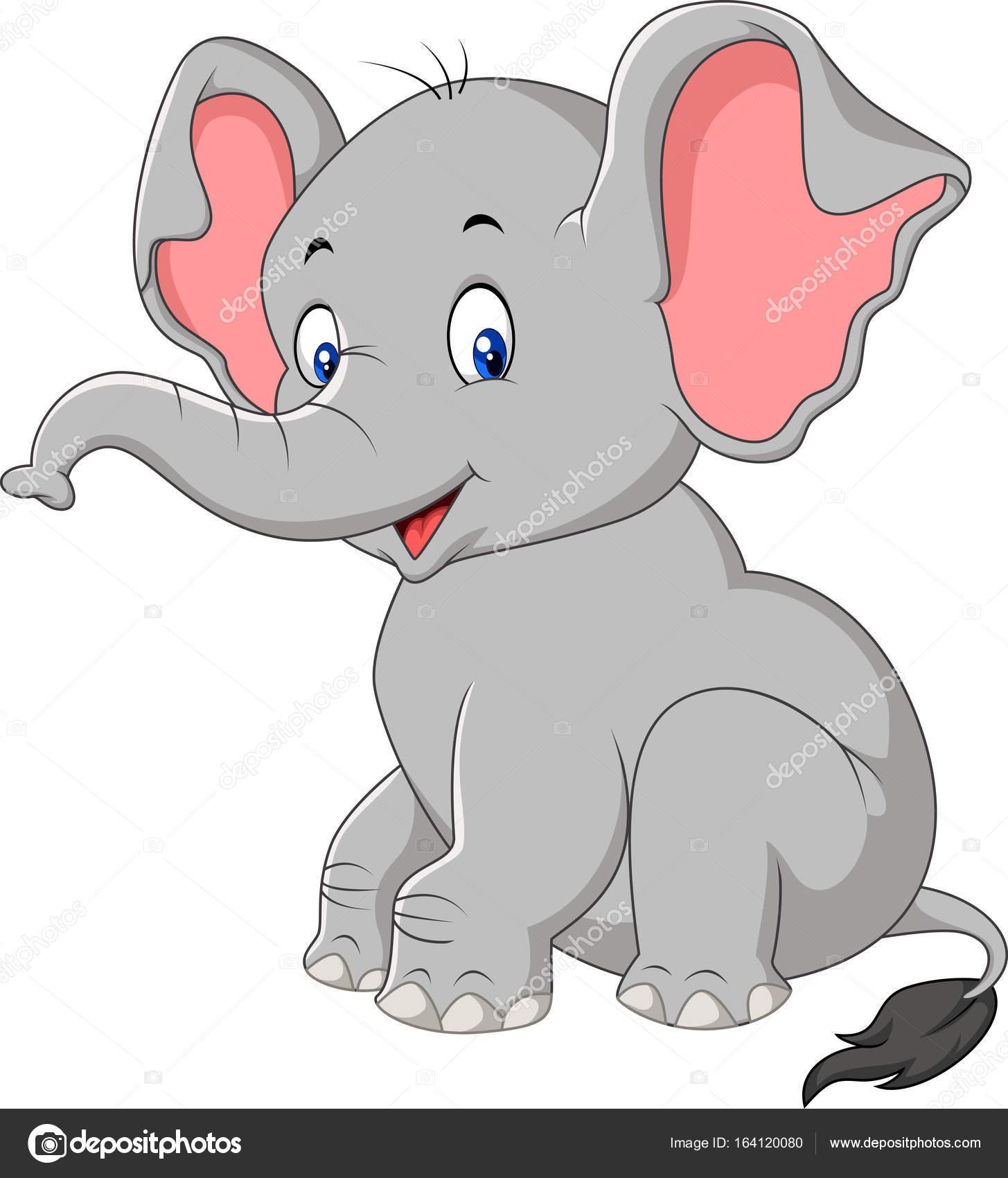 S ance de dessin anim mignon b b l phant image vectorielle tigatelu 164120080 - Dessins d elephants ...