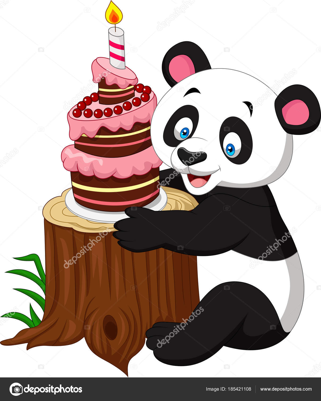 Enjoyable Iictures Funny Birthday Cakes Cartoon Funny Panda Birthday Personalised Birthday Cards Petedlily Jamesorg