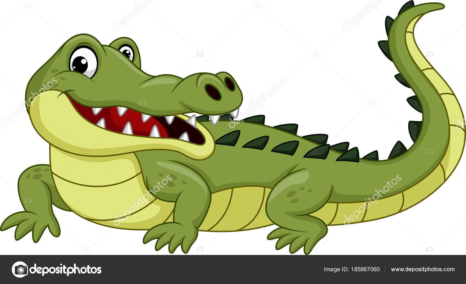 Crocodile dessin anim isol sur fond blanc image - Image crocodile dessin ...