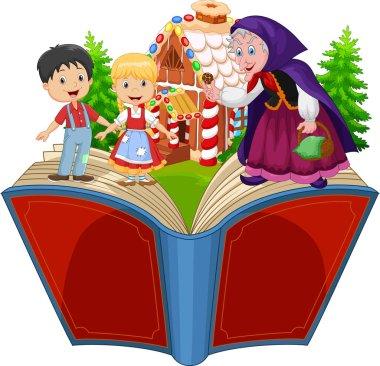 Cartoon Hansel and Gretel