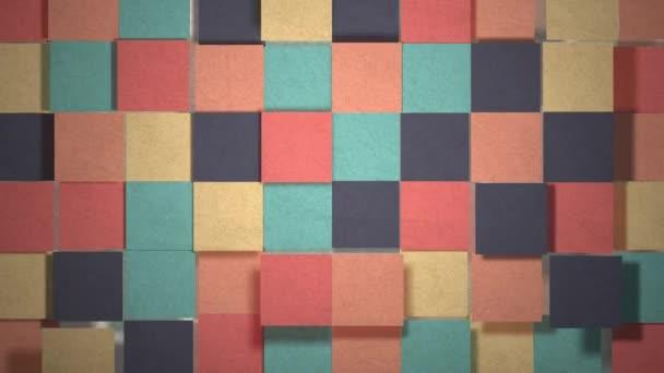Barevné papírové dlaždice hladce animované. Ideální pro vaše kreativní, hravé, inspirativní a papírové projekty. Kvalitní animace 4k 60fps