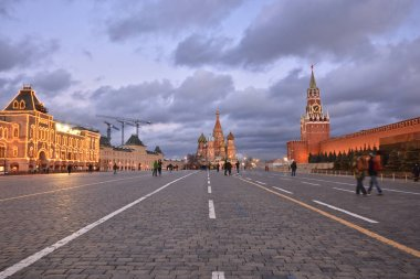 Evening on the Red Square of Moscow.