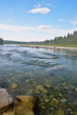 The mountain river Haramatalow in the Polar Urals.