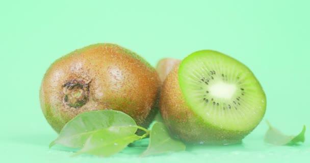 Fresh ripe kiwi with a cool steam.