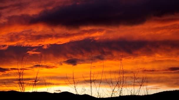 Krásný západ slunce obloha a mraky večer v pohybu