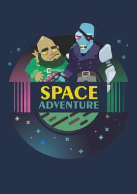 cosmic mystery. vector illustration. space pirates