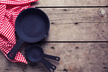 Empty frying pans