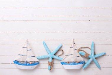 Decorative sailing boats and marine items