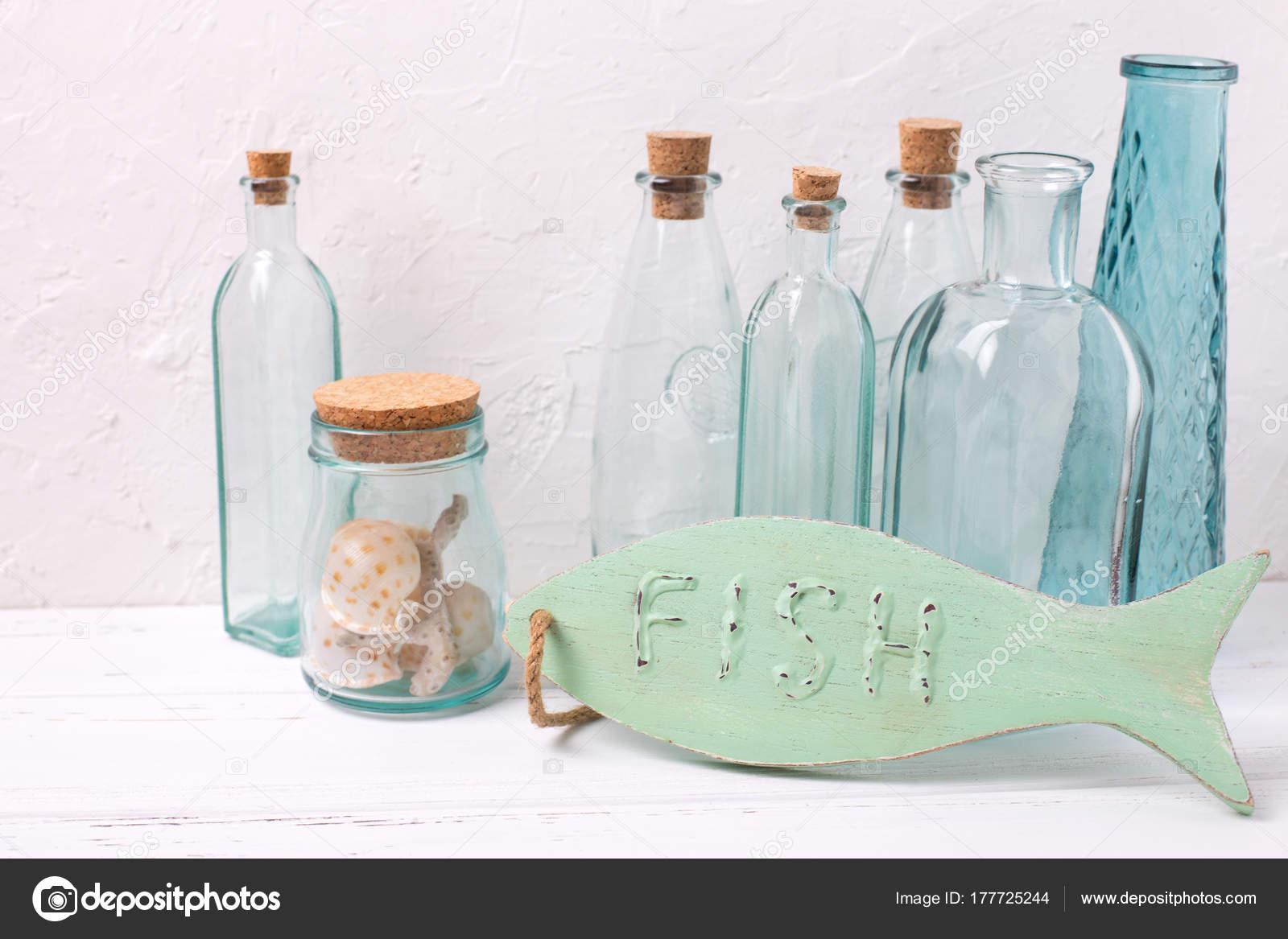 Decorazioni In Legno Per La Casa : Oceano mare tema decorazioni casa pesci decorativi legno bottiglie