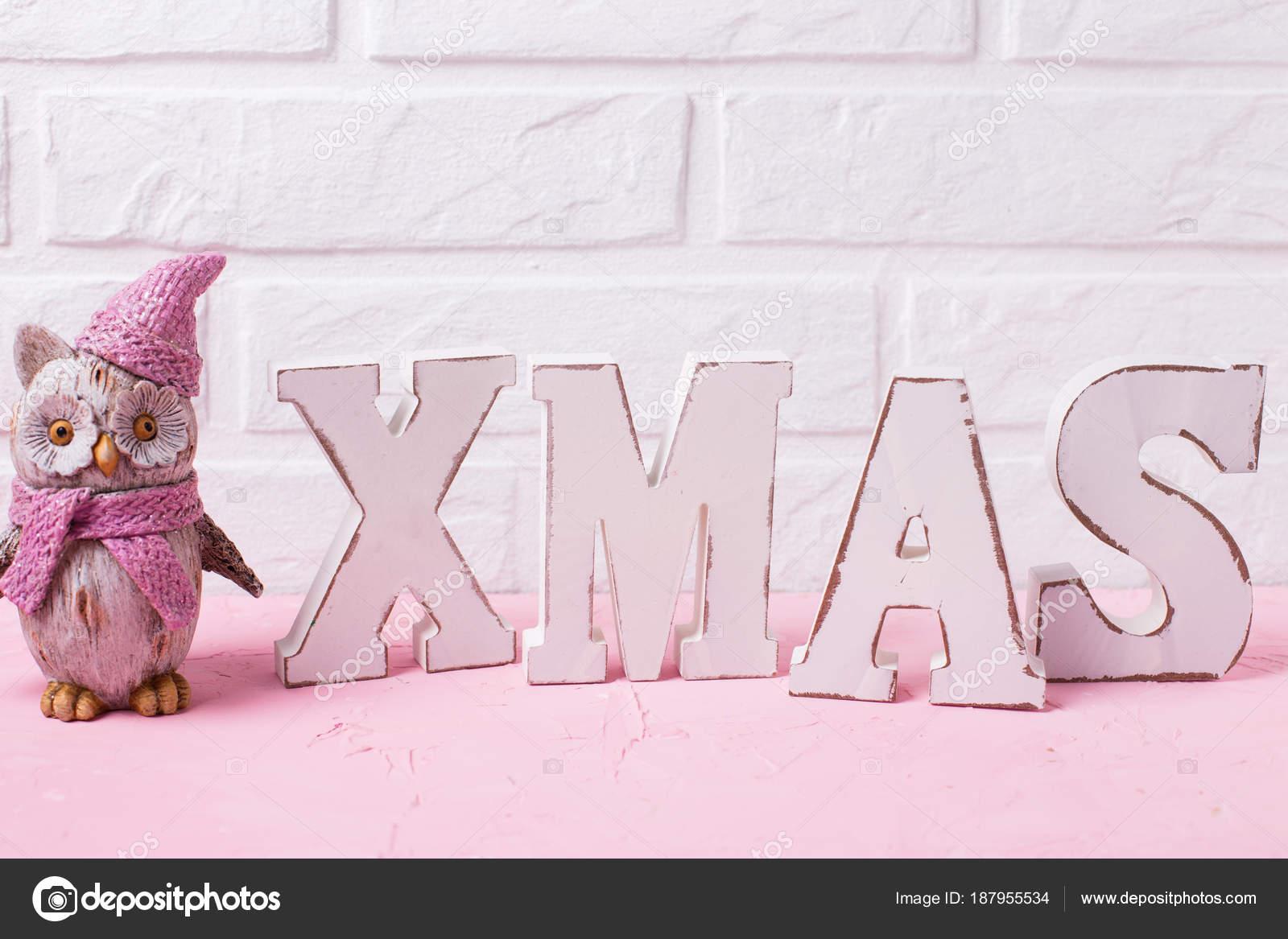 Lettere Di Legno Da Appendere : Natale parola composto lettere legno gufo decorativo del giocattolo