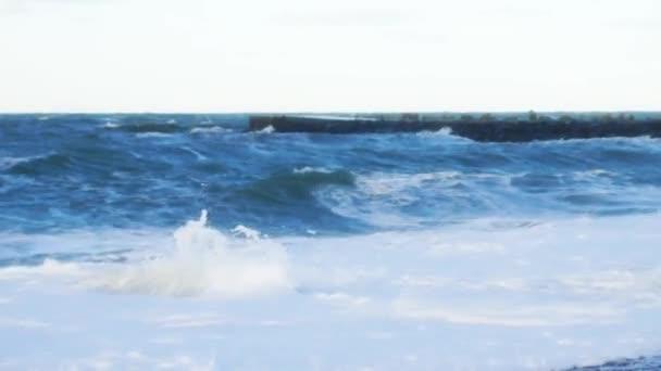 Ocean Waves Crashing on the Beach in Denmark