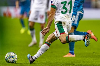 MOSCOW, RUSSIA - , 06.11.2019: The UEFA Champions League game at RZD ARENA, Lokomotiv (Moscow)  Juventus (Turin)