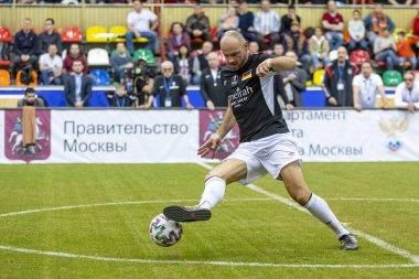 The Luzhniki Small Sports Arena, Moscow, Russia 2020. International football tournament for veterans Konstantin Eremenko Cup of Legends.