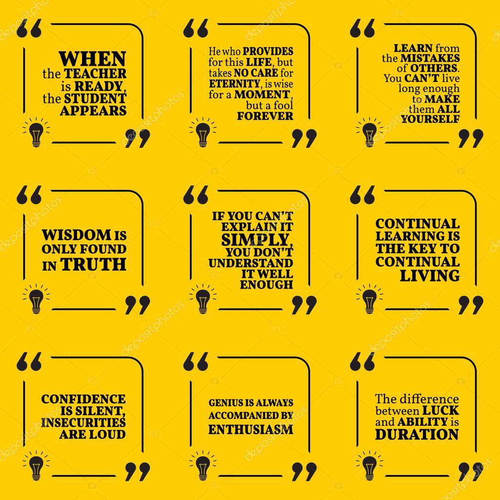 Conjunto De Citas Motivacionales Sobre Aprendizaje Errores