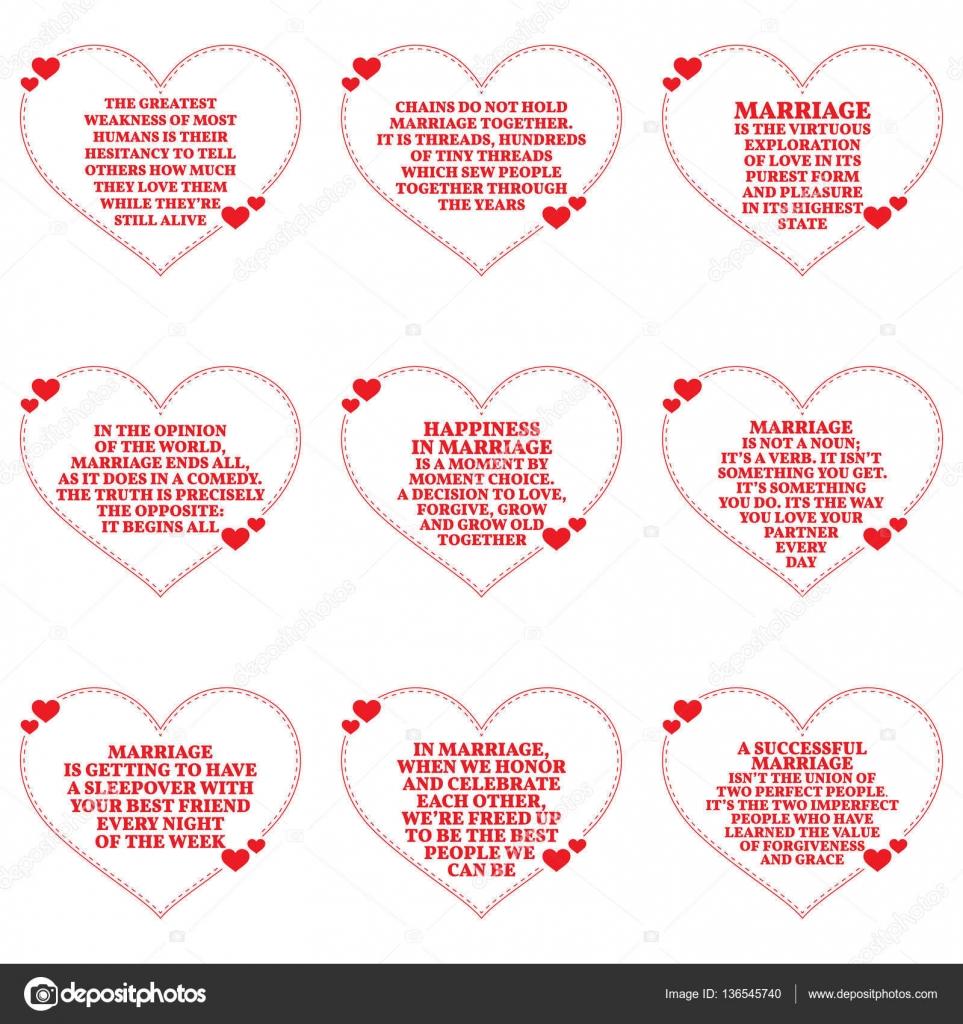 Ensemble De Citations Sur L Amour Et Le Mariage Sur Fond