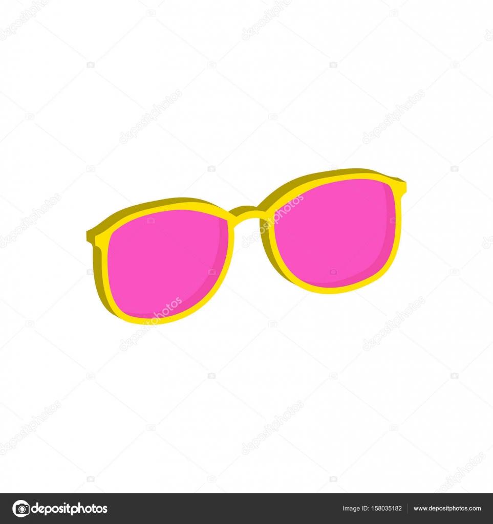 Pink Glasses Eyeglasses Symbol Flat Isometric Icon Or Logo 3d