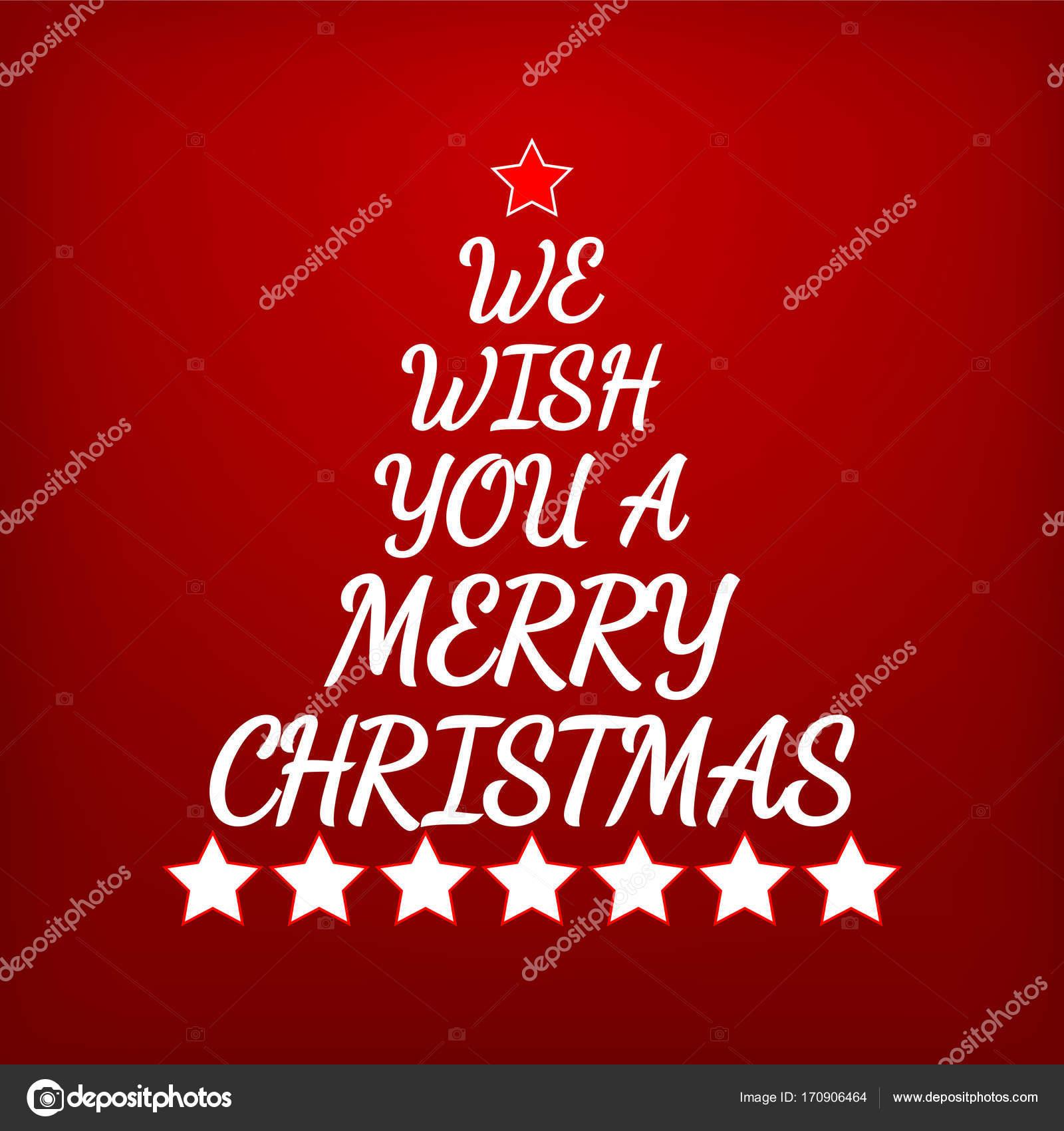 Wir wünschen Ihnen ein frohes Weihnachtsfest. Buchstaben und Sterne ...