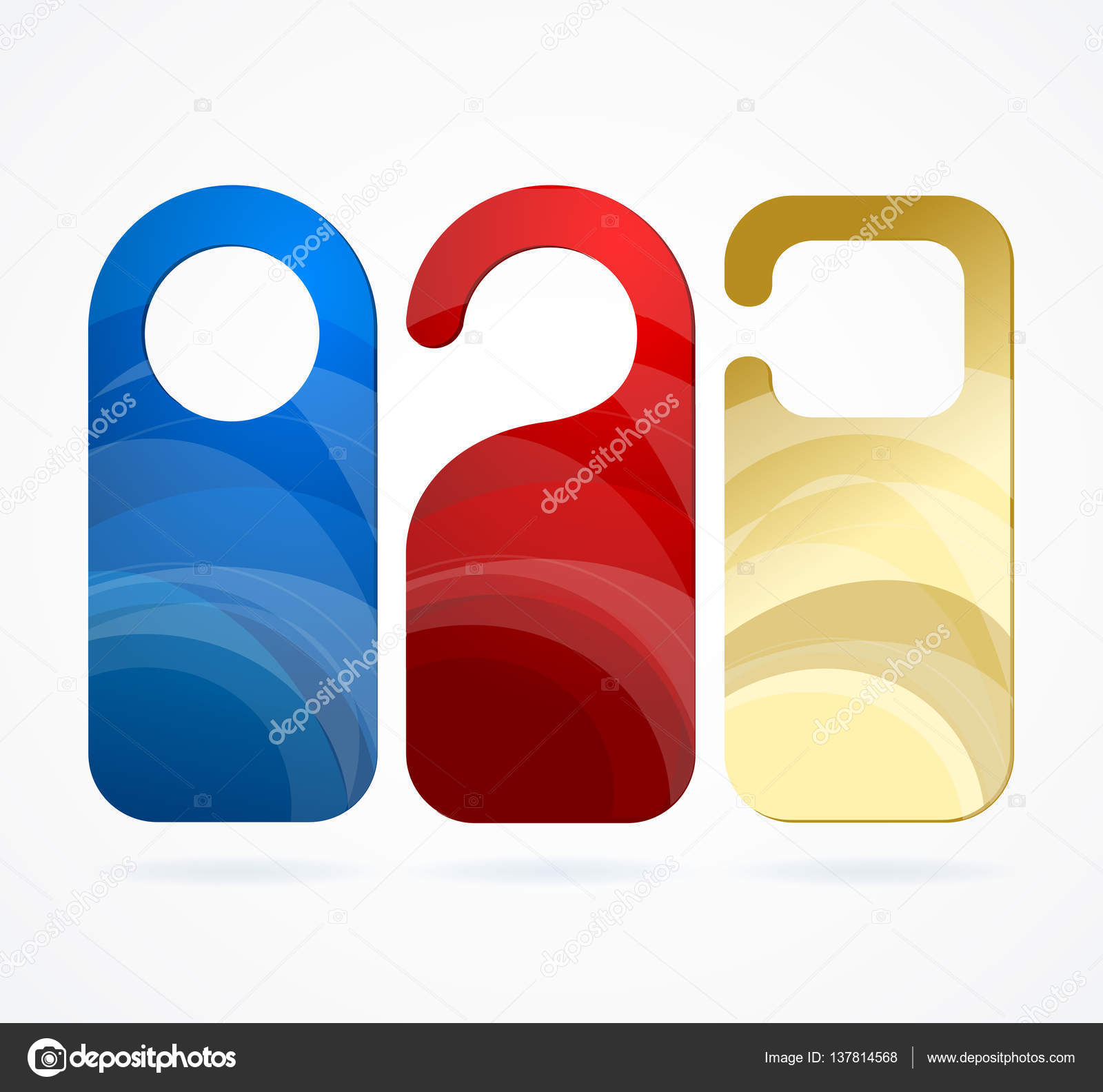 Color Template Blank Empty Hotel Door Labels Set with Abstract Pattern for Room. Vector illustration \u2014 Vector by mouse_md  sc 1 st  Depositphotos & Hotel Door Labels Set. Vector \u2014 Stock Vector © mouse_md #137814568